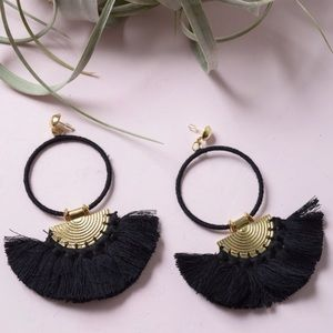 Jewelry - 🆕 Bohemian Hoop Drop Tassel Fan Earrings